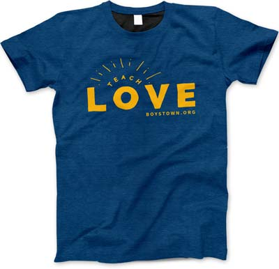 Teach Love T-Shirt Design